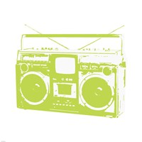 Lime Boom Box Fine-Art Print