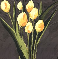 Yellow Tulips On Gray Square Fine-Art Print