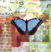 Homespun Butterfly III Fine-Art Print