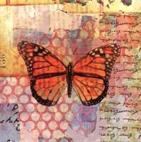 Homespun Butterfly IV Fine-Art Print