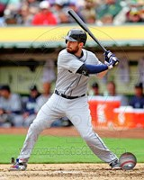 Dustin Ackley Baseball Hitting Action Fine-Art Print