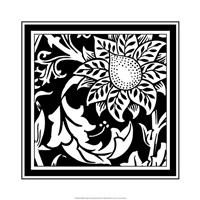 B&W Graphic Floral Motif II Fine-Art Print