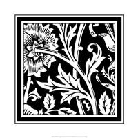 B&W Graphic Floral Motif IV Fine-Art Print