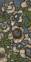 Blue Batik Flowers I Fine-Art Print