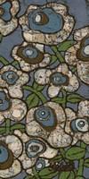 Blue Batik Flowers II Fine-Art Print