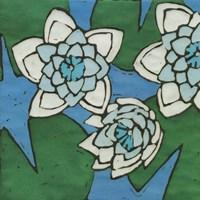 Turquoise Batik Botanical II Fine-Art Print