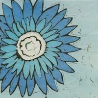 Turquoise Batik Botanical III Fine-Art Print