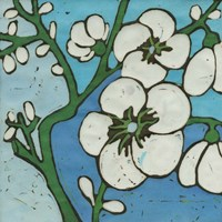 Turquoise Batik Botanical V Fine-Art Print