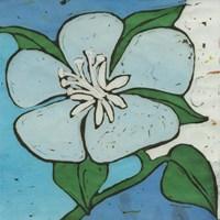 Turquoise Batik Botanical VI Fine-Art Print