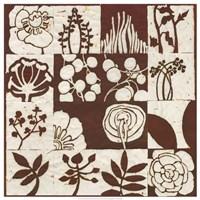 Brown Botanical 16-Patch Fine-Art Print