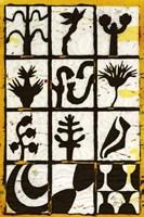 Black Botanical 12-Patch Fine-Art Print