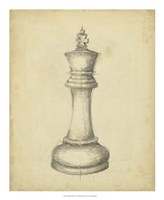 Antique Chess I Fine-Art Print