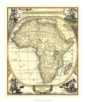 Nautical Map of Africa Fine-Art Print