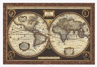Decorative World Map Fine-Art Print