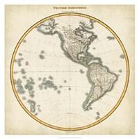 1812 Western Hemisphere Fine-Art Print