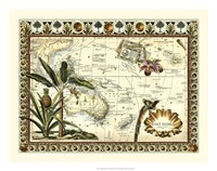 Tropical Map of East Indies Fine-Art Print