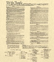 Constitution on Khaki Fine-Art Print