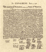 Declaration of Independence Khaki Fine-Art Print