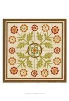 Floral Folk Tile I Fine-Art Print