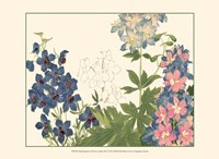 Small Japanese Flower Garden III Fine-Art Print