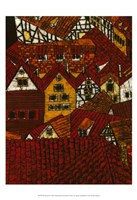 Red Roofs I Fine-Art Print