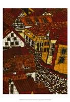 Red Roofs II Fine-Art Print