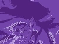 Amaryllis Pistils up close on Purple Fine-Art Print