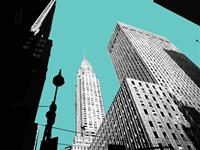 New York on Blue Fine-Art Print