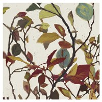 Bordeaux Leaves II - Mini Fine-Art Print