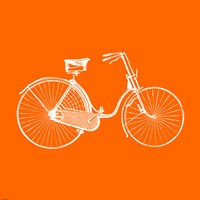 Orange Bicycle Fine-Art Print