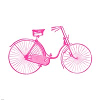 Pink On White Bicycle Fine-Art Print