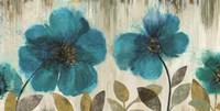 Teal Flowers Fine-Art Print
