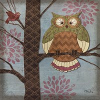 Fantasy Owls I Fine-Art Print