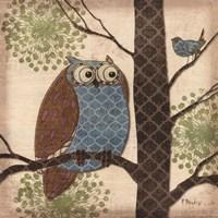 Fantasy Owls II Fine-Art Print