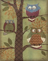 Fantasy Owls Vertical I Fine-Art Print