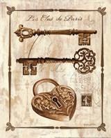 Keys to Paris II Framed Print