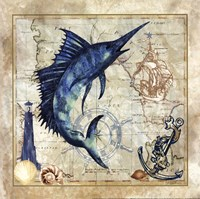 Nautical Swordfish Fine-Art Print