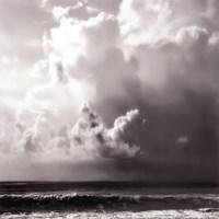 Ocean Storm II Sq. BW Fine-Art Print