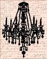 Chandelier Calligraphy II - mini Fine-Art Print