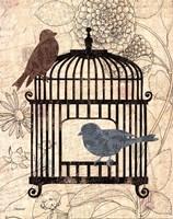 Birds & Blooms II Fine-Art Print