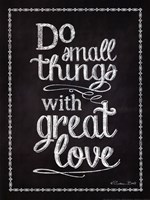 Do Small Things Fine-Art Print
