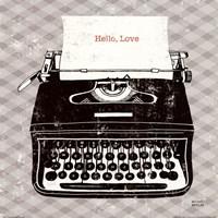Vintage Analog Typewriter Fine-Art Print