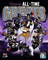 Minnesota Vikings All-Time Greats Composite Fine-Art Print