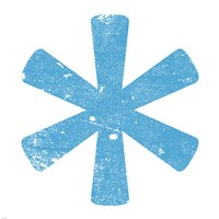 Blue Asterisk Fine-Art Print