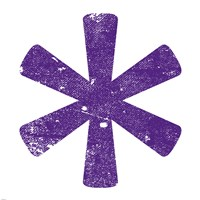 Purple Asterisk Fine-Art Print