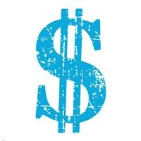 Blue Dollar Sign Fine-Art Print