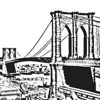 Black Brooklyn Bridge Fine-Art Print
