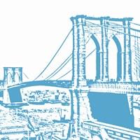 Blue Brooklyn Bridge Fine-Art Print