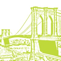 Lime Brooklyn Bridge Fine-Art Print