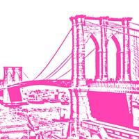 Pink Brooklyn Bridge Fine-Art Print